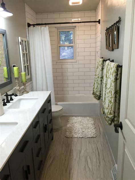 artika subway vanity light upstairs hallway bathroom brazilian white pecan floor 4