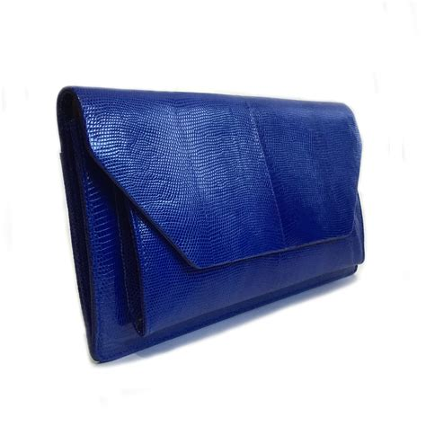 blue pattern clutch bag quot nico quot mod blue lizard python clutch bag laykh