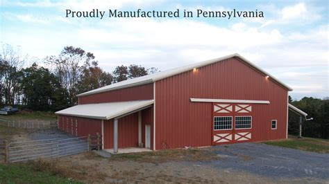 Metal Garages In Pa by Steel Buildings Made In Pennsylvania Prefab Garage Metal