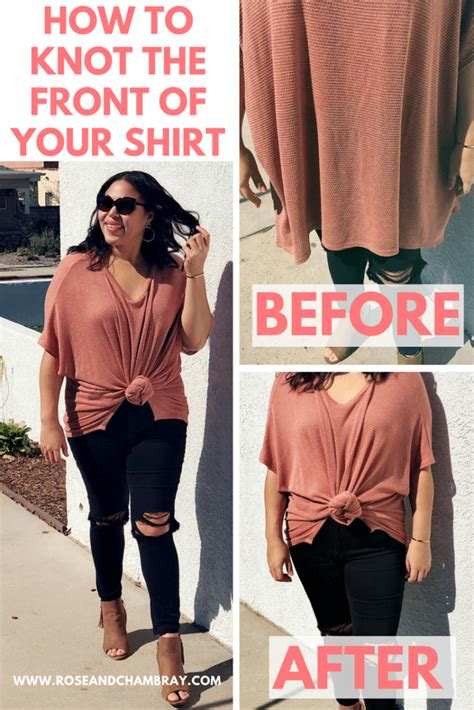 Tshirt How To Your how to tie a knot in your t shirts tunics and blouses