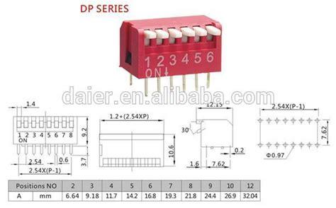 Dip Switch 6 Position 6 Pin Merah 2 54mm piano type dip switch 8 way 8 pin dip switch