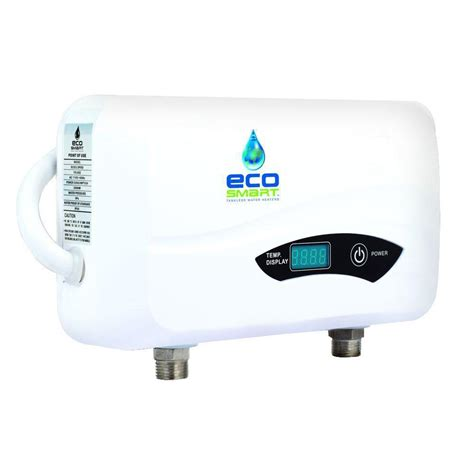 point of use tankless water heater for kitchen sink ecosmart 3 5 kw 0 5 gpm point of use electric tankless