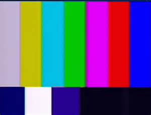 smpte color bars using color bars