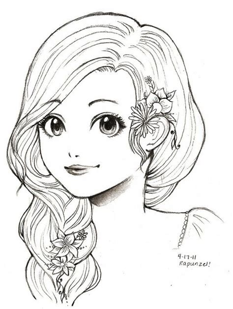 anime girl coloring nice stunning coloring pages cute beaux dessins de divers artistes