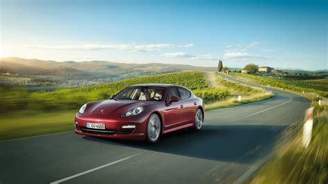 road drivers porsche car on the road driving speed hd wallpaper wallpapers