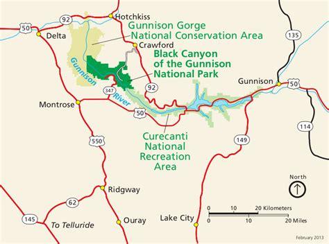 map of gunnison colorado colorado national park trail maps feral mountain company