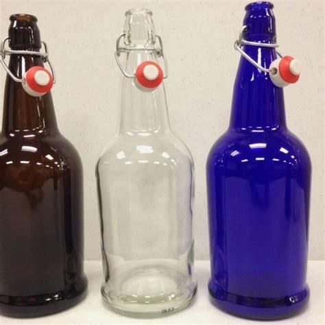 1 liter swing top glass bottles beer bottles 1 liter 12 blue ez cap glass swing tops full