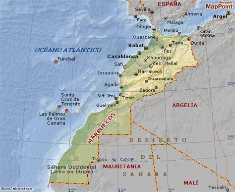 espana y africa mapa marruecoo marruecos