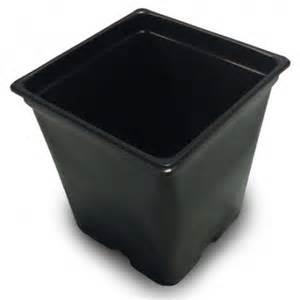 3 gallon pot 3 gallon black square pot