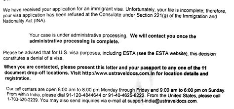 Section 221 G Visa Problem by Cr1 Visa Refusal At Mumbai Section 221g Maybe Returned To Nvc India Visajourney
