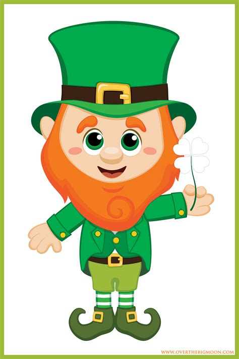 printable leprechaun images st patrick s day kids game over the big moon