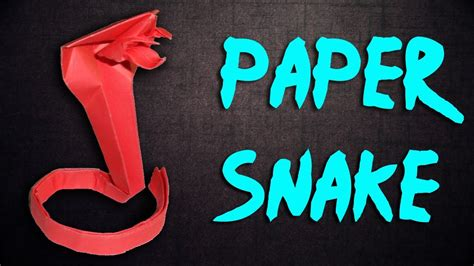 How To Make A Paper Snake - how to make a paper snake origami snake