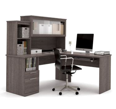 Sutton L Shaped Desk Sutton L Shaped Desk W Hutch 63 Quot W By Bestar Officefurniture