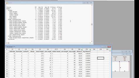 design experiment minitab minitab design of experiments doe fractional factorial