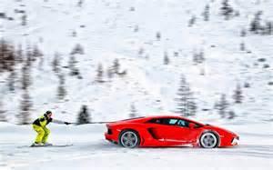 lamborghini ski snow ski humor snow winter hd