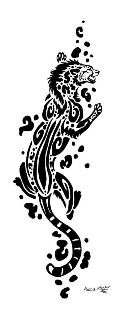 tribal leopard design best leopard tribal design tattooshunter