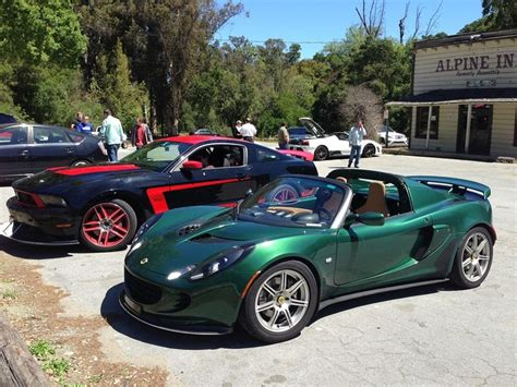 lotus elise ireland lotus elise in classic racing green and a ford