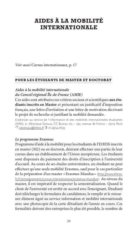 Lettre De Motivation De Doctorat Livret Etudiant 2011 2012