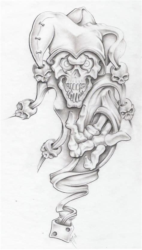 evil joker tattoo designs evil jester ii by markfellows on deviantart
