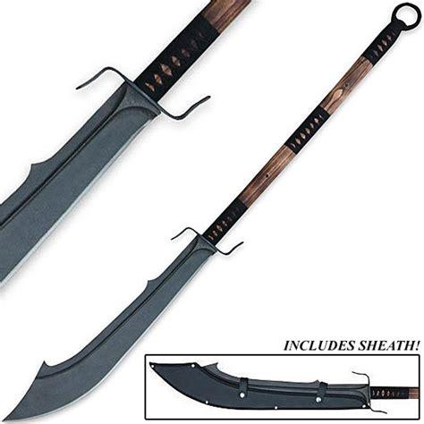 Top Home Decor Brands Hand Forged Warrior Naginata Sword W Thick Scimitar Blade