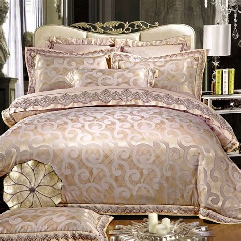 Bed Sheet And Comforter Sets Find More Bedding Sets Information About Sale Luxury Silk Satin Cotton Jacquard Bedding