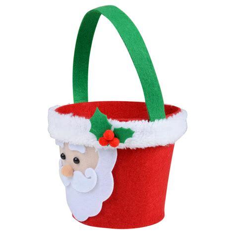 christmas santa head felt gift bag bucket decoration accessory
