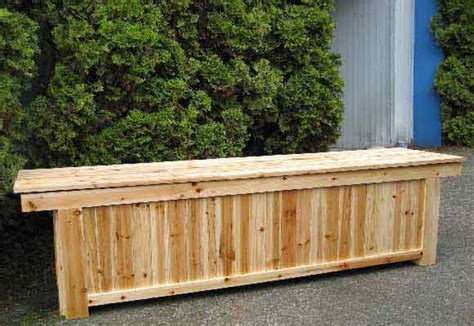 outdoor wooden bench with storage cedar wood storage bench outdoor storage benches