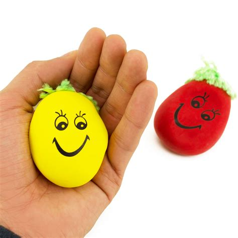 Small Stress smiley squeeze mini stress exercise
