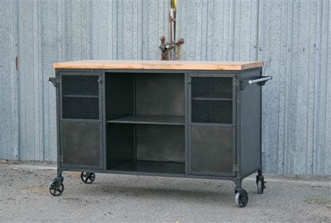 industrial bar cart modern kitchen island combine 9