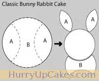 Bunny Cake Template by Easter Bunny Cake Hurry Up Cakes