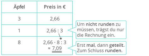 Rechnung Berechnen Englisch Berechnen Prportionalen Zuordnungen Mit Dem Dreisatz Kapiert De
