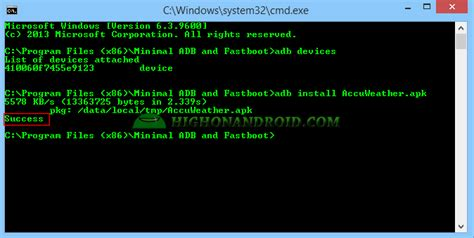 install apk adb how to install apk to your android device via adb commands howto highonandroid