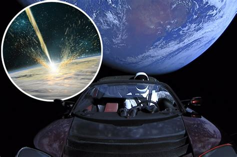 starman david bowie ost the martian spacex elon musk s tesla could crash into earth warns