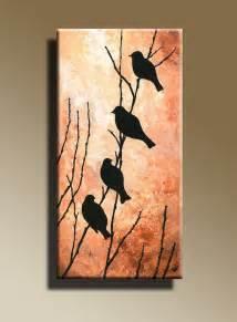 hanging prints canvas print of original acrylic painting night bird