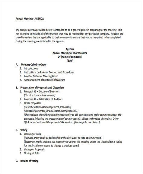 annual agenda 26 agenda format templates free premium templates