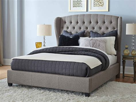 hillsdale beds hillsdale bromley upholstered bed orly gray fabric
