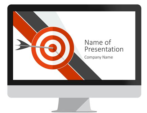 target powerpoint template presentationdeck com