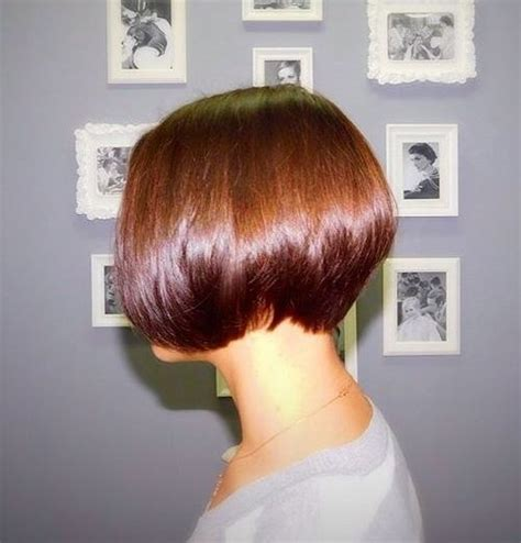 the full stack 20 hottest stacked haircuts two tone chocolate brown pixie haircut picture dark