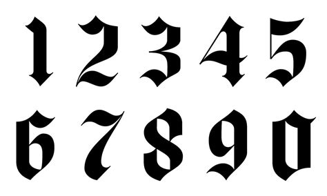 tattoo number fonts font numbers calligraphy tattoos fonts