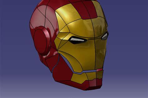 helmet design catia iron man helmet catia 3d cad model grabcad