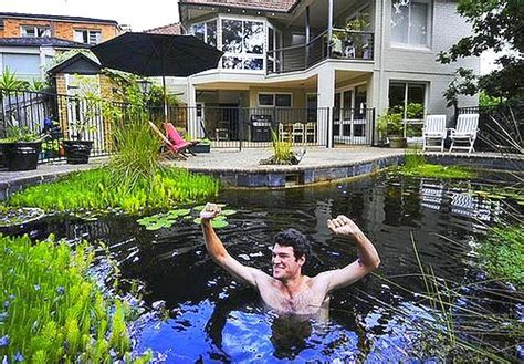 Build A Pond In Your Backyard by Building A Backyard Pond By Converting Your Swimming Pool