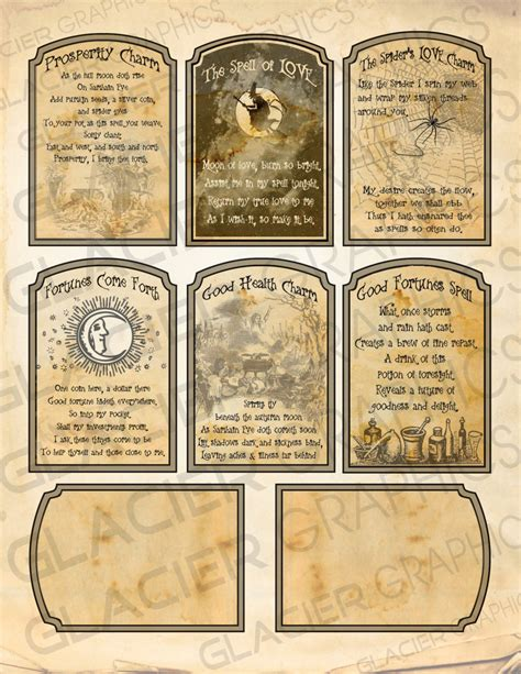 Template For Fortune Teller Card by Witch Spell Cards Fortune Teller Tag