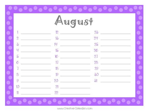 monthly birthday calendar template free printable monthly birthday calendar new calendar