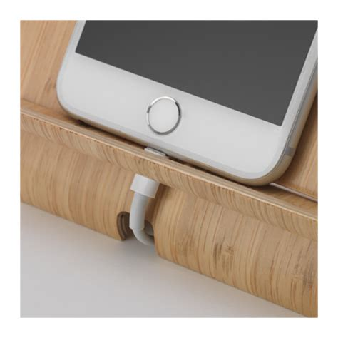 ikea phone charger basket sigfinn holder for mobile phone bamboo veneer ikea