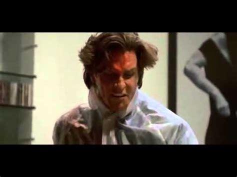 american psycho bedroom scene psicopata americano cena do machado american psycho axe