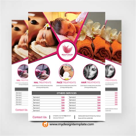 download free beauty spa flyers free flyer psd template