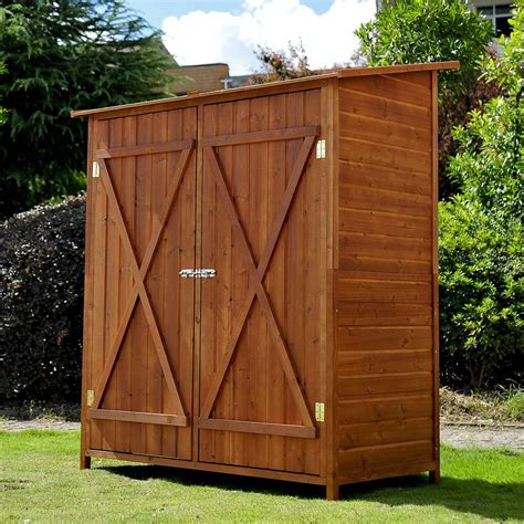 outdoor patio storage cabinet garden wooden shed storage unit tool bike outdoor patio
