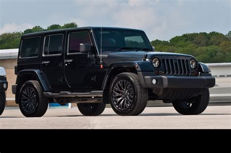 Murdered Jeep Wrangler Kahn Design Murdered Out Jeep Wrangler Unlimited Car Tuning