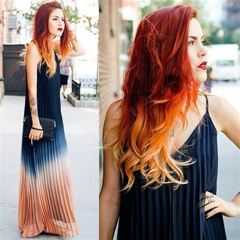 red and blonde hombre pics 60 awesome diy ombre hair color ideas for 2017