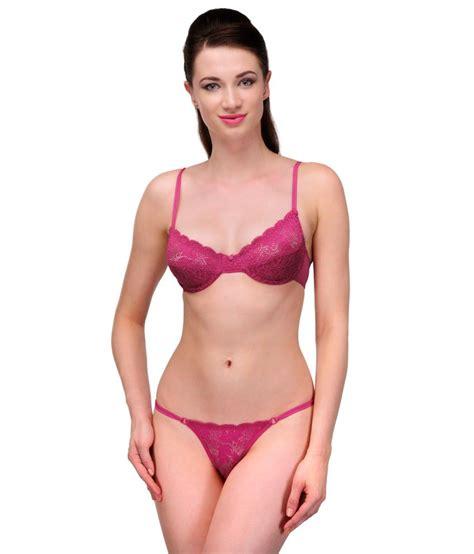 Set Kutubaru Pipit 2 Pink urbaano pink bra sets
